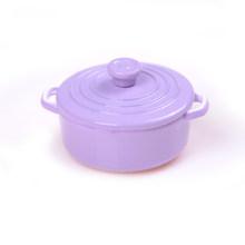 Mini louça prato tigela de cobre pote com tampa conjunto de utensílios de mesa casa boneca brinquedo em miniatura alimentos cozinha sala estar acessórios(China)