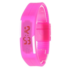 2016 New Fashion Men Women Rubber LED Watch Date Sports Bracelet Digital Wristwatch 5 Colors