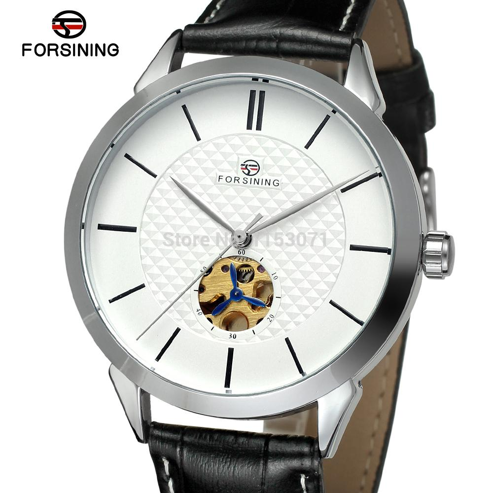 FSG8083M3S1 Free shipping for new Automatic Mens dress round  watch with black leather strap  with gift box on sale watch <br><br>Aliexpress