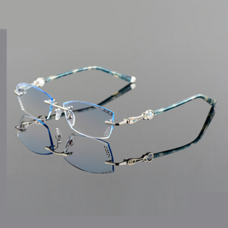 Glasses Frame Discoloration : Popular Rimless Eyeglass Frames Women-Buy Cheap Rimless ...