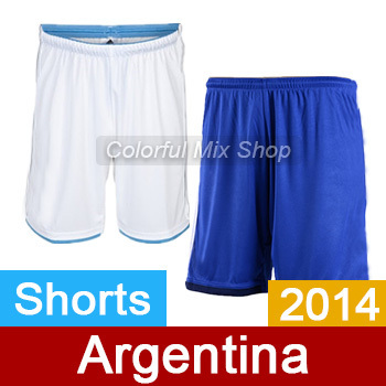 Argentina Jersey Shorts 2014 World home away Soccer Top Thai Quality Football - thai quality jersey store