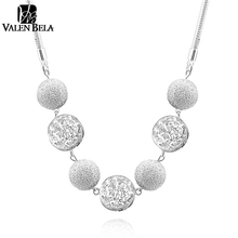 VALEN BELA Fashion New Style 18 inch High Quality Silver Plated Beaded Ball hollow Choker Necklace top quality XL1161(China (Mainland))