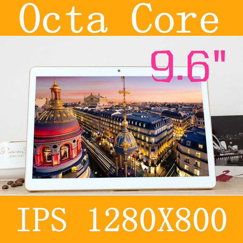 """9.6"""" Tablet PC 3g 4g tablet Octa Core 1280 * 800 ips 5.0mp 4g/128gb keyboard android 5.1 gps bluetooth Dual sim card Phone Call(China (Mainland))"""