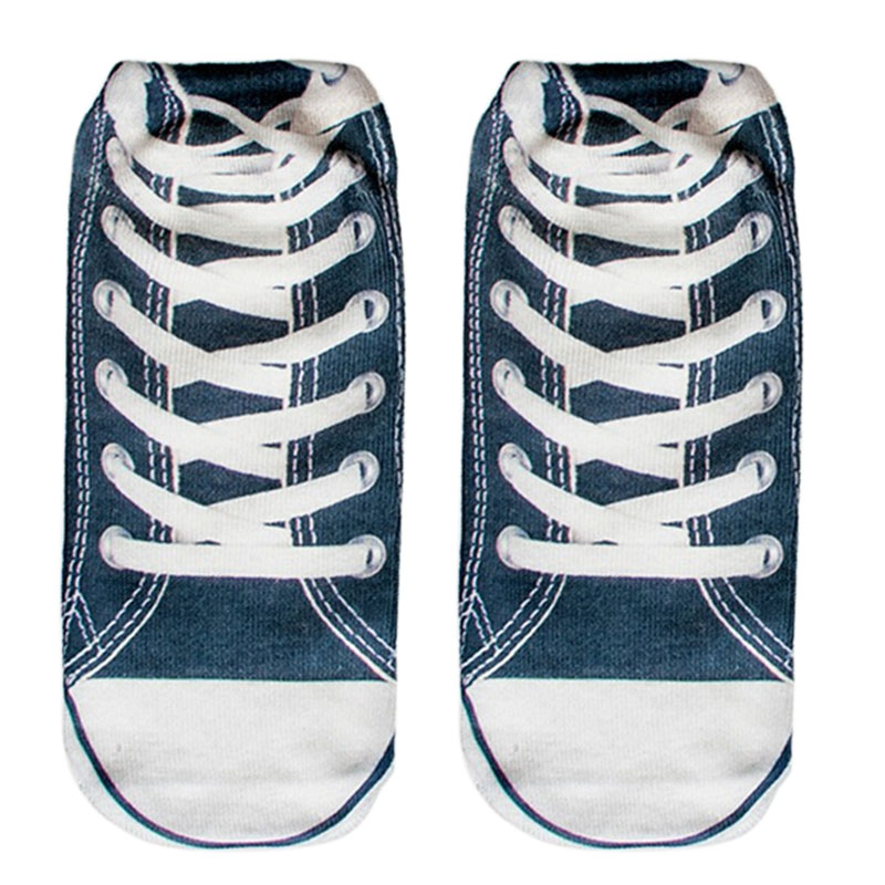 Hot Sale 14 New Design 3D Print Animal women Socks Casual cartoon Deep Blue Board Shoes Low Cut Ankle Socks(China (Mainland))