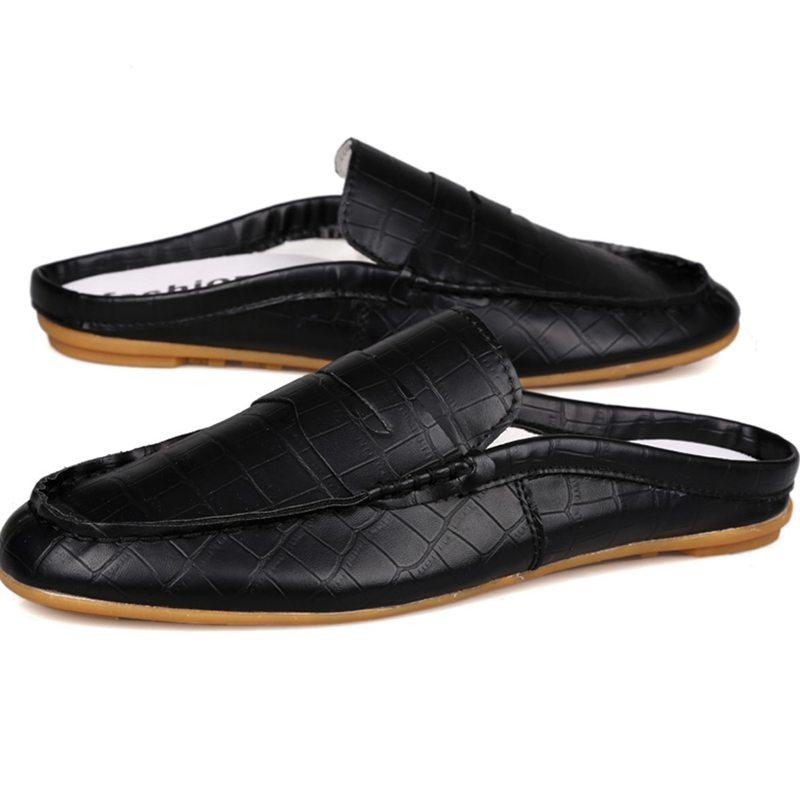 Fashion Brand New Men Sandals Summer Style Casual Half Slipper Men Flat Slip-on Men PU Shoes Cool Half Sandals Size:39-44<br><br>Aliexpress