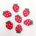 20x14mm Hot Selling Strawberry Wood Wooden Spacer Beads Fit Children DIY Jewelry Mixed Color 50pcs