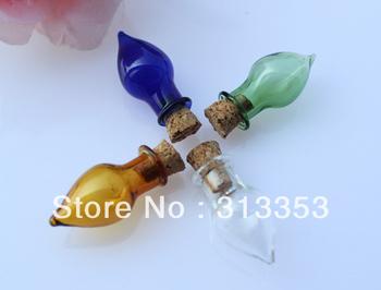 25pcs 27X13MM Small Tear Drop with corks(Assorted Colors),Perfume bottle pendant,Wish Vials,wishing bottle,Fairy Dust Bottles