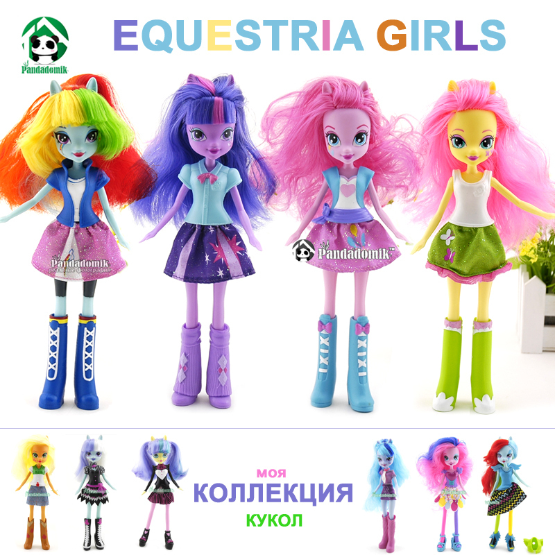 Original Equestria Girls Doll Hot Selling Horses Action Figures Free Dolls Accessories Classic Toys For Girls Kids Toys(China (Mainland))