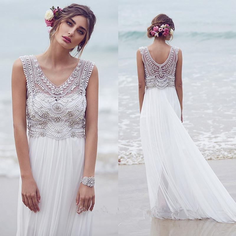 Compare Prices on Boho Beaded Wedding Dress Cap Sleeve- Online ...