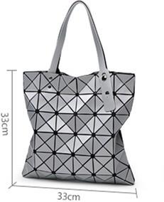 Hot Fashion Japan Style Women's Handbag Hight Quality Same As Baobao BAG Lattice Geometric Totes Bag 6*6 Lattice Dull Color
