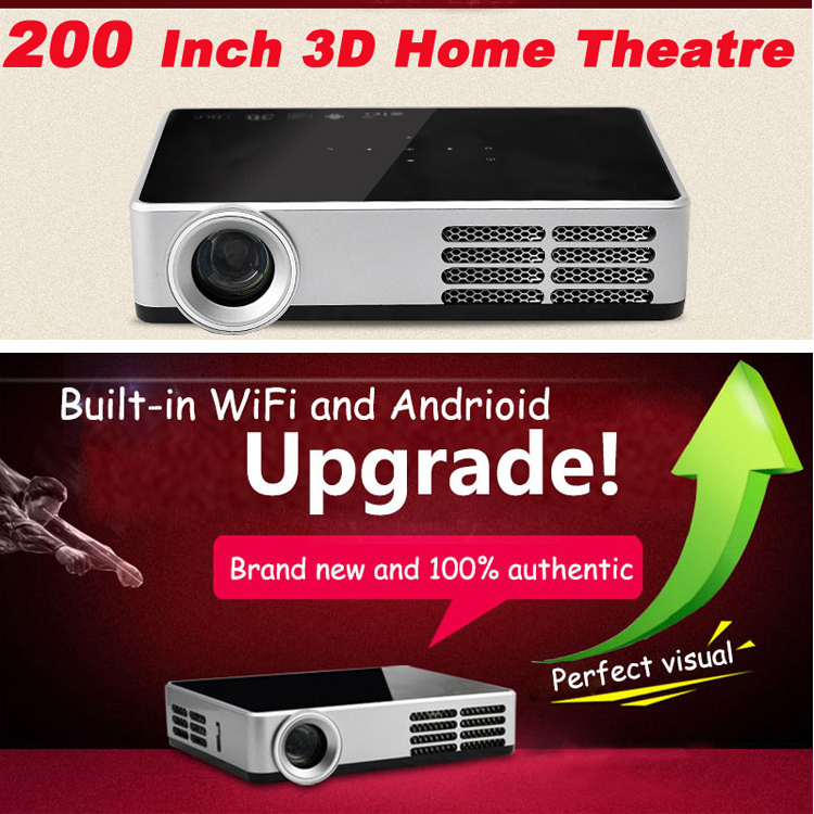 Build-in Wifi 4.2 Andriod Real 3D Projector 1280*800 Full HD Mini Support 2D Transfer - China Electronic Department Store store