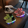 new 2016 fashion Basket Led Children Shoes With Light Up Kids Casual Boys Girls Luminous Sneakers
