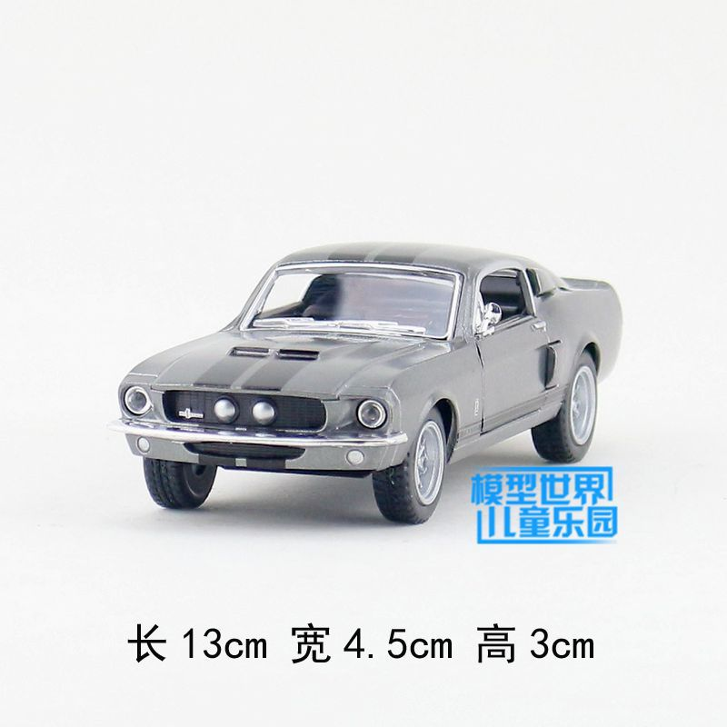 Gift for baby 1:38 1pc 13cm delicacy cobra GT500 Ford mustang 1967 alloy police car model home decoration boy children toy(China (Mainland))