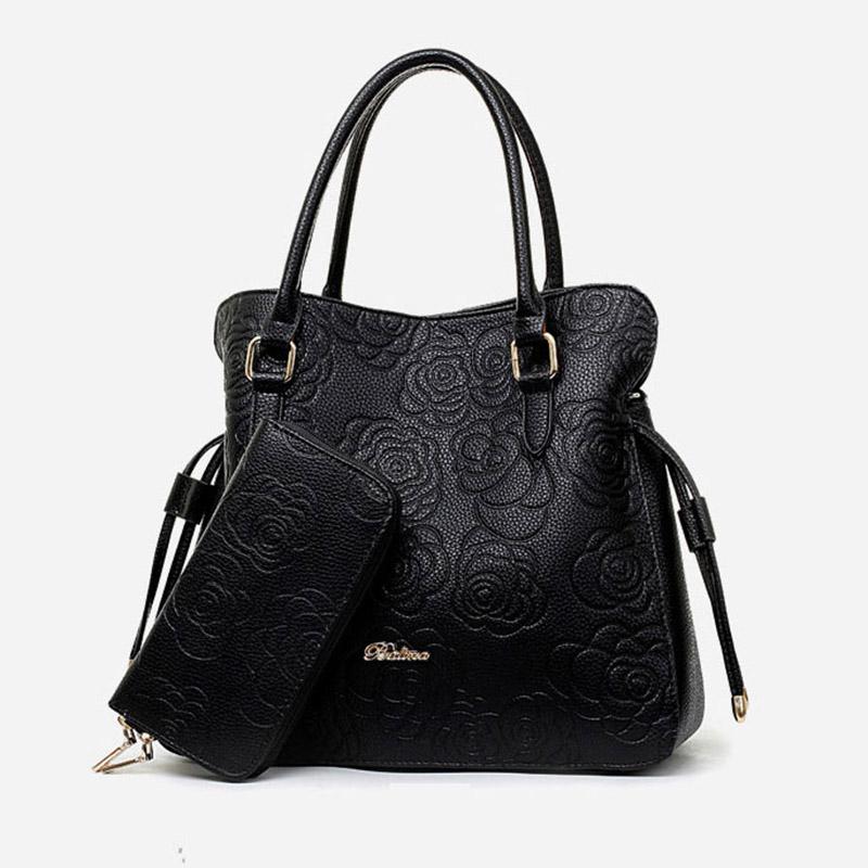 High Quality PU Leather Bags Women Floral Handbags Famous Brand Clutch Purses Ladies Tote Bolsa Feminina Classic Grain Top Bag<br><br>Aliexpress