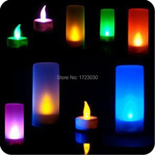 2015 Brand New Colors Changing Creative Voice Control Candle LED Night Light Decoration Lamp Nightlight gift for kids J0507(China (Mainland))
