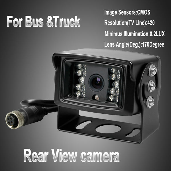 120 Degree Car Monitor System Rear view Camera For Bus and Truck bus camera truck reversing camera