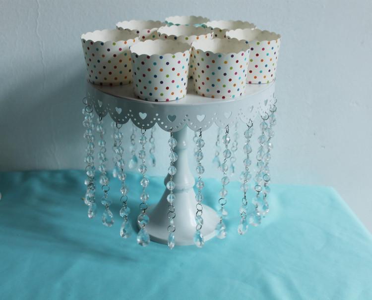 Modern wedding supplies cake stand tool cake stand dessert tray crystal pendants cake pan rack wedding decoration DGP0016(China (Mainland))