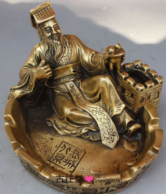 Chinese Boutique collection pure copper carving figure Ashtray(China (Mainland))