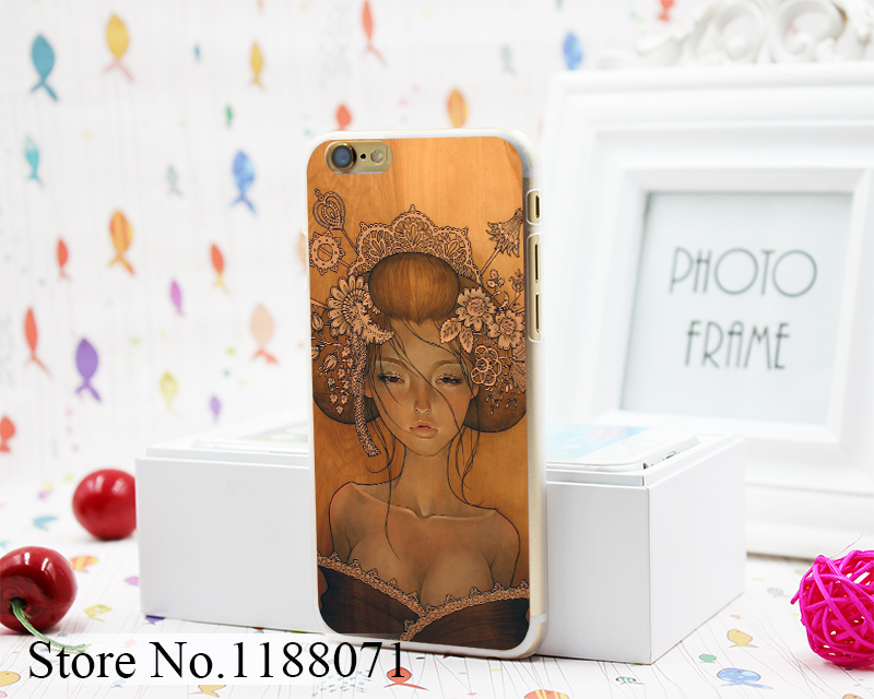 Retro Sexy Girl audrey kawasaki dESIGN hARD cLEAR sKIN tRANSPARENT FOR IpHONE 6 6S 6 pLUS cASE cOVER(China (Mainland))