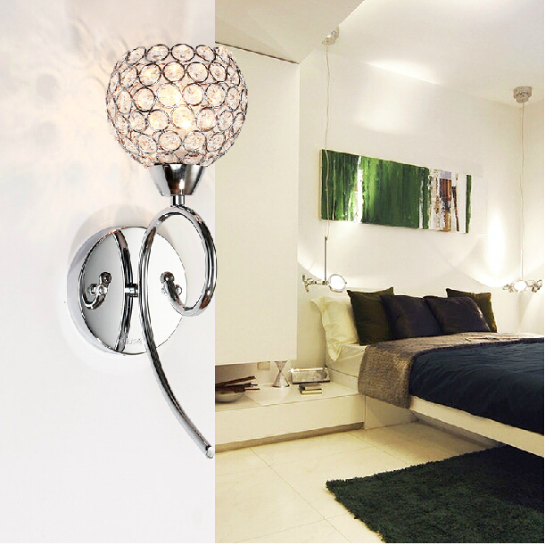 Living Room Crystal Wall Sconces : Aliexpress.com : Buy 40W Crystal Wall Lamp/Bedside Lamp/220v Wall sconce Lights Home Indoor ...