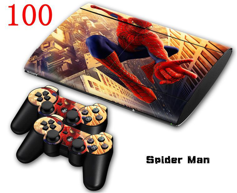 for spider man Vinyl decal for PS3 Skin Sticker For Sony Playstation 3 slim4000(China (Mainland))