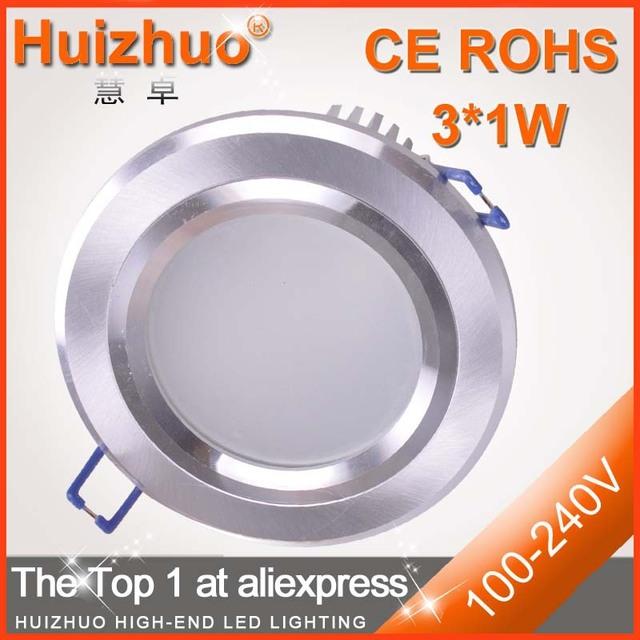 [Huizhuo Lighting]Free Shipping High Power 3W AC100-240V LED Downlight