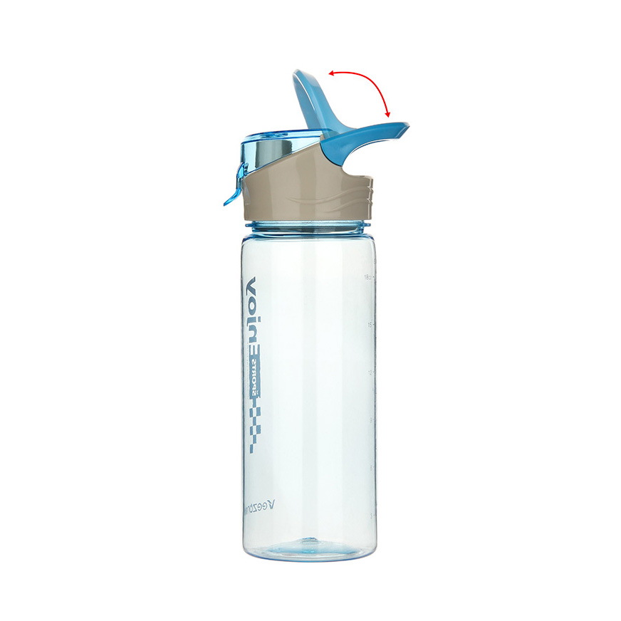Creative BPA Free Sport Water Bottle Flip Top Leak Proof Lid Camping Bicycle Climbing Tour Plastic Water Bottle Plastic Cup(China (Mainland))