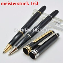 Luxury MT 163 mon black resin Roller Ball Pen school office stationery hot sell blance brand kawaii Writing mb pen(China (Mainland))