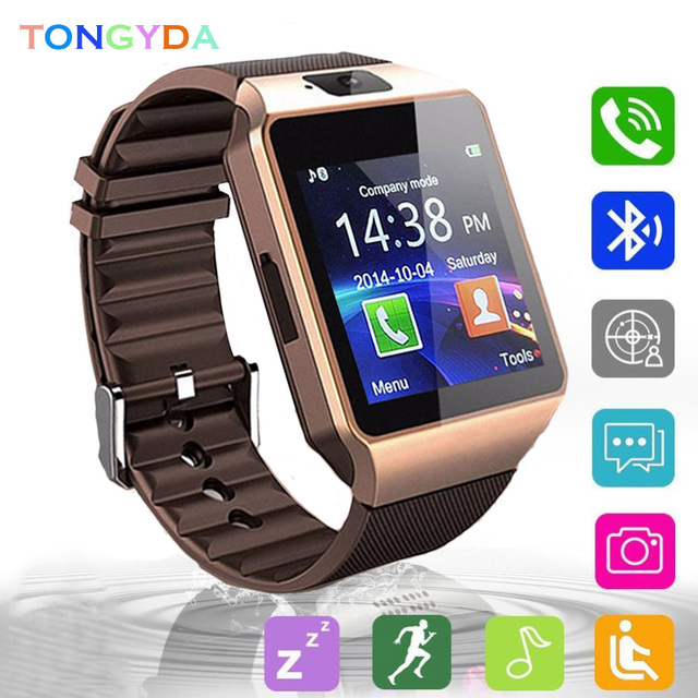Smartwatch With Camera Smart Watch Digital Men Watch For Apple iPhone Samsung Android Mobile Phone Bluetooth 2G GSM SIM TF Card