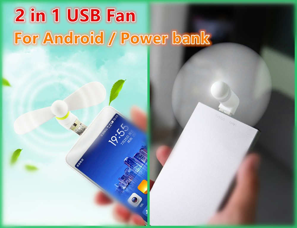 100% tested Micro USB 2 in 1 USB Flexible Mini Fans for Samsung Android Phone hand Fan USB Gadgets for Notebook Laptop PC OTG(China (Mainland))