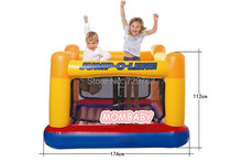 Children Jumping Trampoline Baby Gym Outdoor Games For Kids Toys Inflatable Castle Of Household 174*174*112cm()
