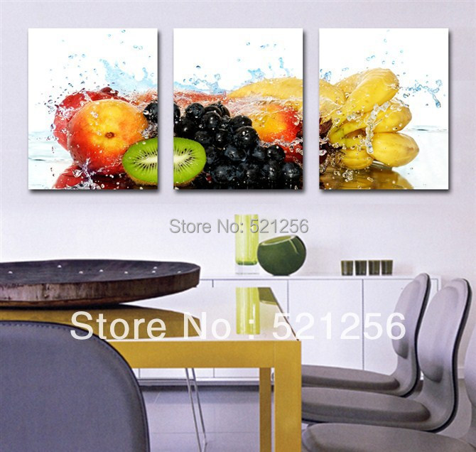 3 Piece Free Shipping Hot Sell Modern Wall Painting Kitchen Fruits Home Decorative Art Picture Paint on Canvas Prints A635(China (Mainland))