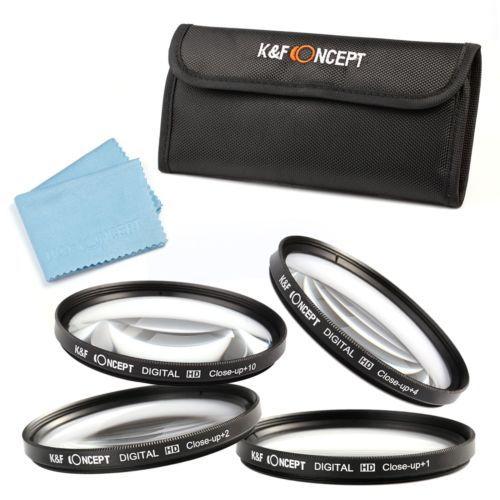 4pc Camera 77mm Close Up Macro +1 +2 +4 +10 Lens Filter Kit For NIKON CANON DSLR(China (Mainland))