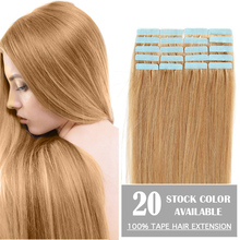 """Cheap Tape Hair Extenisons 18"""" 20"""" 22"""" 24"""" 20pcs/lot Remy Human Hair Tape Thick Skin Weft Brazilian Hair Extension Big Promotion(China (Mainland))"""