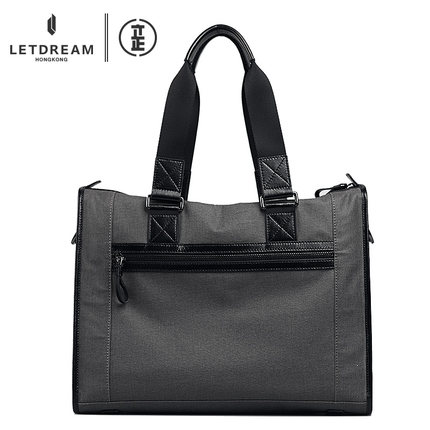 Hongkong LETDREAM  Brand 2015 New Canvas Male  Large Capacity Handbag 14 Briefcase inclined shoulder bag<br><br>Aliexpress