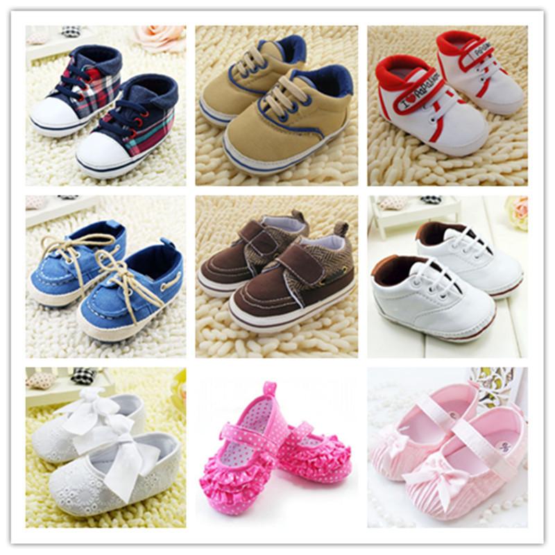 Гаджет  Baby Shoes Branded Newborn Girl Boy Soft Sole Crib Toddler Shoes Canvas Sneaker Prewalker Sports Shoes Casual 0-18 M  None Детские товары