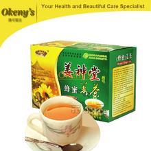 Free shipping NEW 2015 HOT Green Slimming Coffee instant Green Ginger Honey And Ginger Health Care
