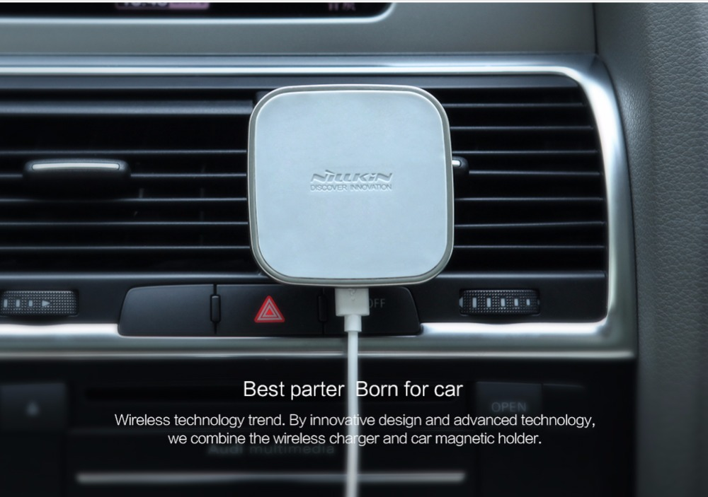 Qi wireless car charger magnetic air vent mount holder 15