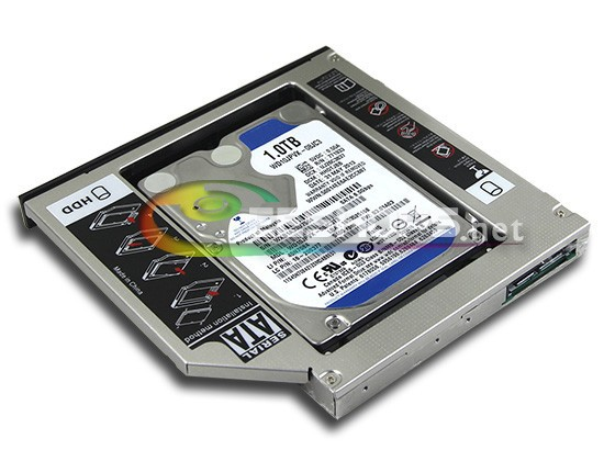 "Фотография Cheap for HP PAVILION G6 Series 2320tx 2231tx Series Notebook 2nd 1TB 2.5"" HDD Second Hard Disk Optical Drive Bay Replacement"