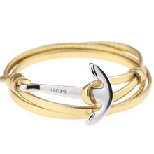 Jewelry fashion jewelry gift TOM HOPE leather bracelet alloy anchor bracelet 16 colors for men and women