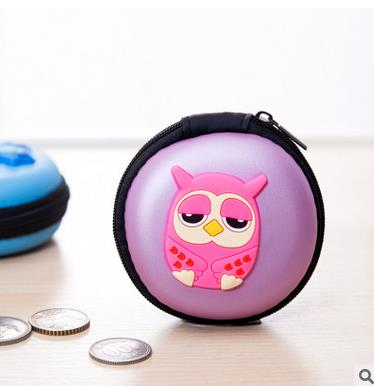 New creative cartoon animals PU leather change to receive a package Mini coin purse package headset package(China (Mainland))