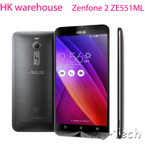 glass screen gift+Stock for ASUS Zenfone 2 ZE551ML 4G FDD LTE Android 5.0 5.5 Inch IPS 1920x1080 4GB 64G LTE Phone(China (Mainland))