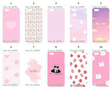 Mobile Phone Case For IPHONE 5C Wholesale 10pcs/lot pink Design White Hard Back Case Free Shipping