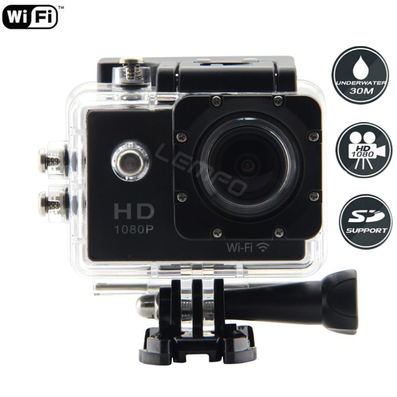 Action Sports Camera WiFi Full HD 1080P 30fps Waterproof 30m 170 Degree MINI Camcorder Car DV DVR for GoPro Style VS Xiaomi yi(China (Mainland))