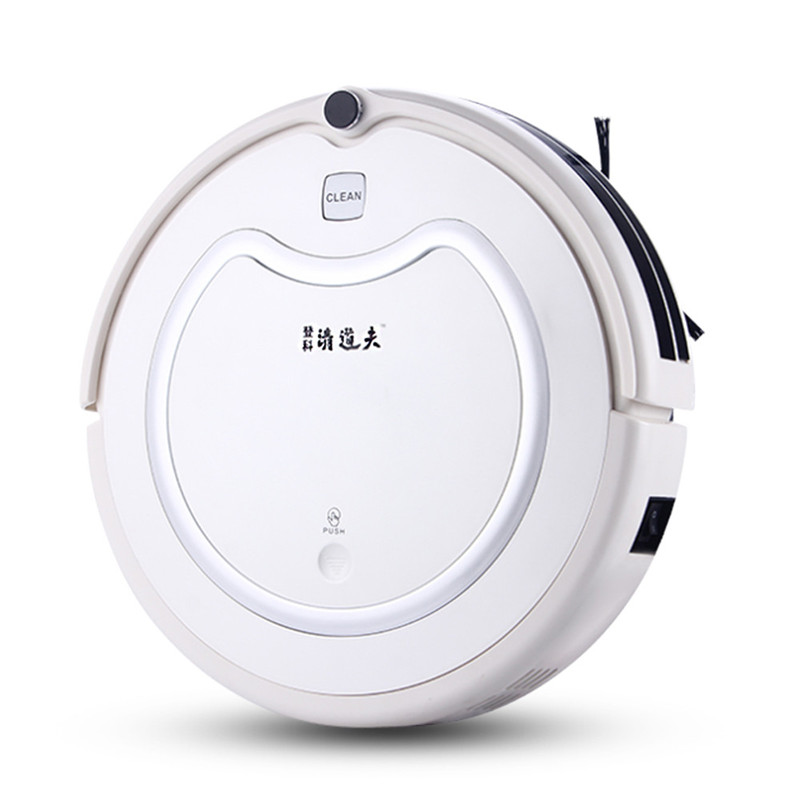 White Robot Vacuum Cleaner for dry and wet Sweep Suction Mopping Time Schedule sweeping cleaner robot(China (Mainland))