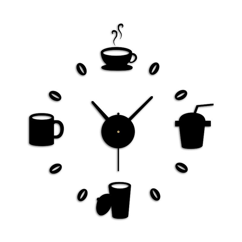 New simple design bird and jungle wall clock creative diy - Reloj de pared adhesivo ...