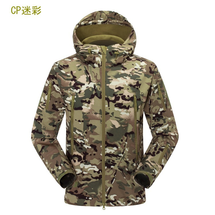 military jacket hiking men outdoor windbreaker hunting clothes camping climbing waterproof camouflage coat plus size(China (Mainland))