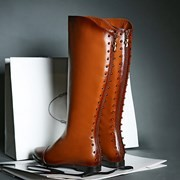 Glamor Trend 2014 Sexy Fashion Spring Winter Women Genuine Leather