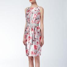 INSHOP Women New Fashion Chinese Style Summer Autumn Chiffon Dress Digital Print Silk Like Party Dress Free Shipping