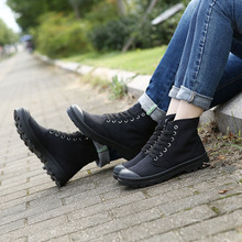 New Leisure Unisex Canvas Shoes Solid Fashion Outdoor Boots Ankle Platform Women Men Casual Shoes High Quality Lover Shoes 5815